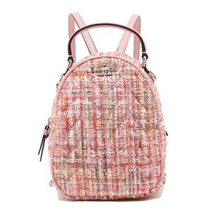 Kate Spade Pink Boucle Convertible Backpack NWT